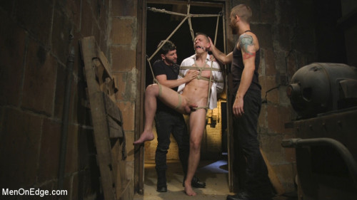 Gay BDSM Bank Manager Abducted and Edged to His Limit