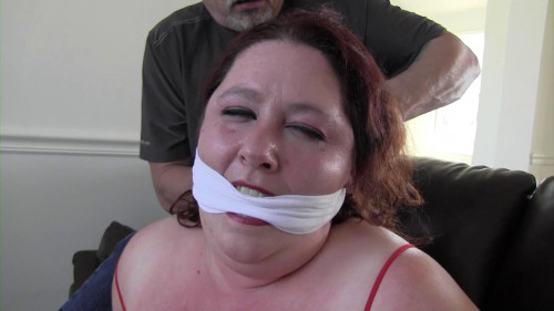 BDSM Joyful Girl-My husband cannot find me tied up and gagged like this!