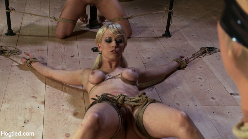 BDSM Something you have never seen before! - An Amazing 3 girl scene with brutal bondage and orgasms!