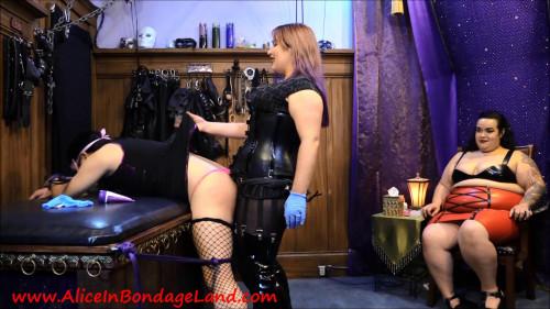 Femdom and Strapon Punishment Pegging - Breath Control Chastity Foursome
