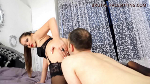 Femdom and Strapon Mistress Charlotte - Stockings Bitch part 1
