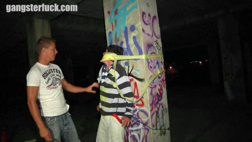 Gay BDSM Caning of a sprayer pt.1