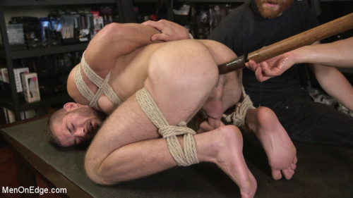 Gay BDSM New Kink Stud gets Private Edging Session on His First Day at Work