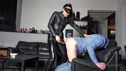 Femdom and Strapon Lazy Ass Strapon Punishment