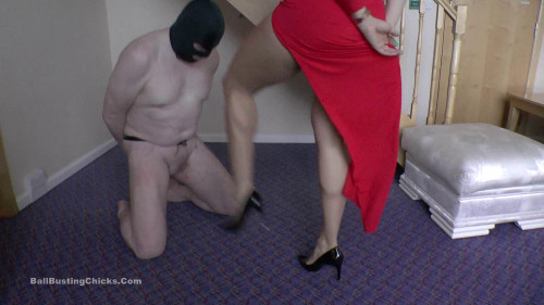 Femdom and Strapon Ballbustingchicks - Hunteress - As Hard As Can Be