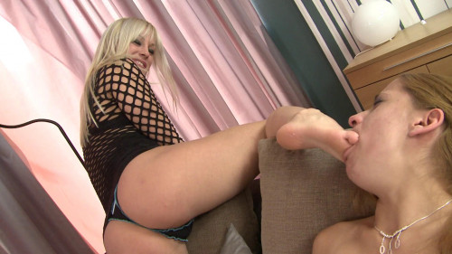 Femdom and Strapon Deep Feet By Domina Sabina Taylor And Her Slave Baba