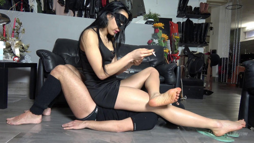 Femdom and Strapon Mistress GAia My Dustbin