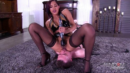 Femdom and Strapon Chloe Amour His Pain, Her Pleasure (2017)
