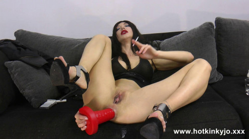 Fisting and Dildo Long dildo from mrhankey deep in Hotkinkyjo ass