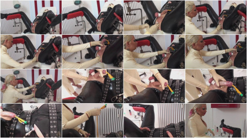 Femdom and Strapon Domina Kates Palace of Sin - Catheter Ejaculation