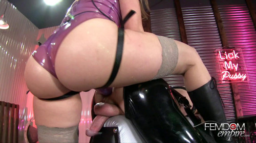 Femdom and Strapon Strap-on Ass Splitter
