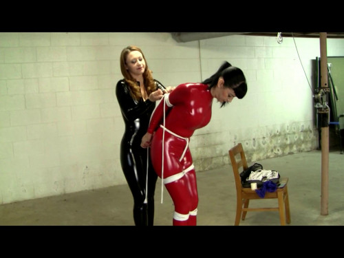 BDSM Latex Catburglar Catches a Copycat
