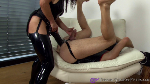 Femdom and Strapon Strap On
