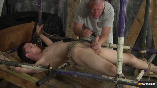 Gay BDSM Twink Dick Vibrated To A Cum Load!