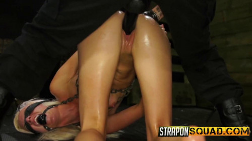 BDSM StraponSquad Halle Von Endures Lesbian Domination and  Rough Sex with Marina Angel