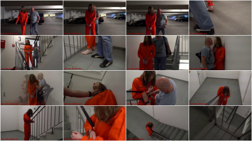 BDSM I love Bondage - Female prisoner cuffed and shackled