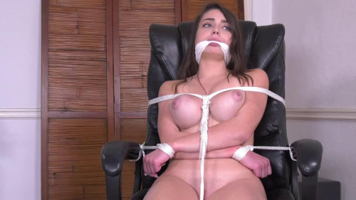 BDSM Super bondage, domination and hogtie for horny naked brunette Full HD1080