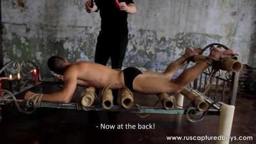 Gay BDSM RusCapturedBoys - A New Captive From Shibari Maestro - II