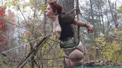 bdsm Rin Transported to The Woods and Tree Tied 2