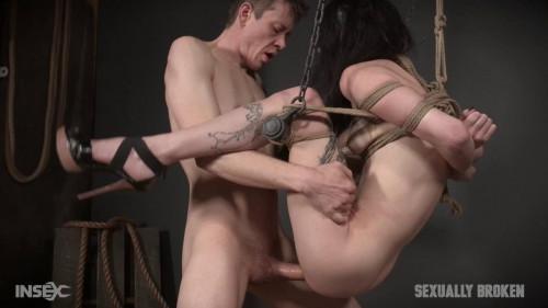 BDSM Lydia Black is a human sex swing!