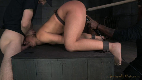 bdsm Abella Danger Shackled And Roughly Fucked With Brutal Drooling Deepthroat