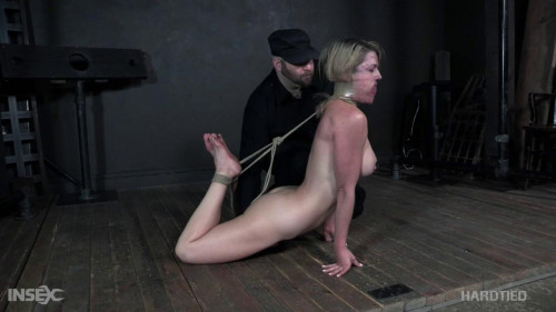 BDSM Stunning lady Kit Mercer gets extreme bondage