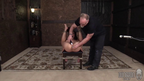 BDSM Tied up on the couch with