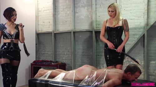 Femdom and Strapon Double Whip - Scene 1 - Mistress Bella Bathory, Cybill Troy and Bart - Full HD 1080p