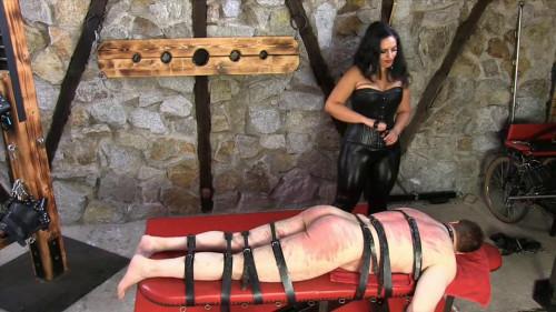 Femdom and Strapon Mistress Ezada Sinn - A Hard Belting - HD 720p