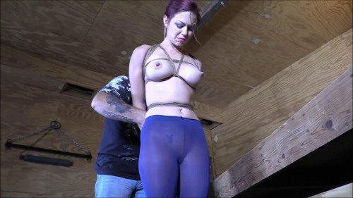 BDSM Bondage, domination, hogtie and torture for very horny girl