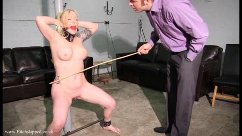 BDSM Tight bondage, spanking and torture for naked blonde part 2