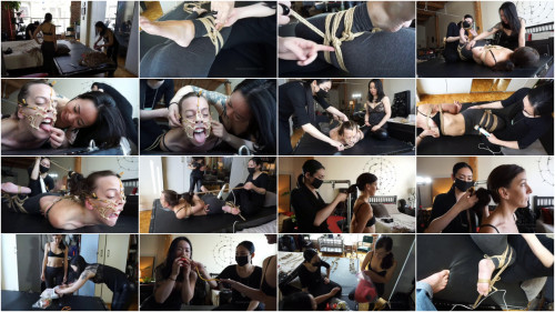 BDSM Bondage, domination, hogtie and torture for very sexy model