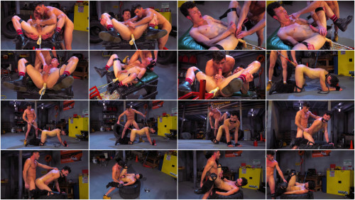Gay BDSM Hard Bondage Fuck At Garage