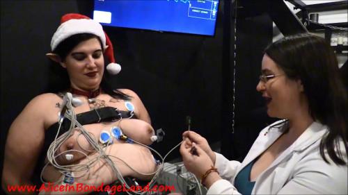BDSM Hand Cranked Christmas Electric Elf - Lesbian Medical Play