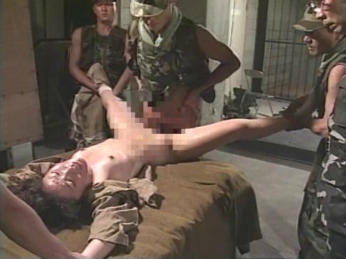 Asians BDSM Military police interrogation room