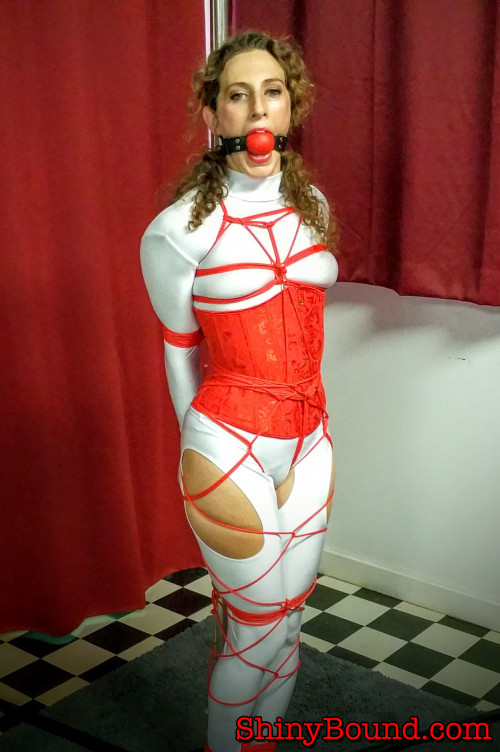 BDSM ShinyB - Simone.. Stripper Pole Tied