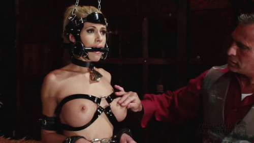 BDSM Super bondage, domination and spanking for sexy naked blonde Full HD1080