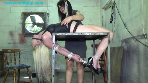 BDSM Inverted hogtie horror