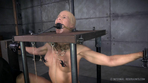 BDSM Stuck In Stocks And Put Through Her Paces