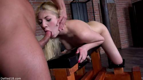 BDSM Tight bondage, domination and torture for naked blonde slut Full HD1080