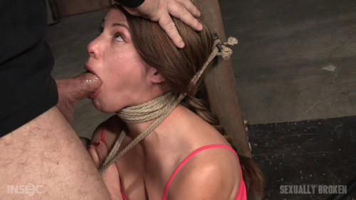 bdsm 5 foot high girl next door Devilynne tightly tied in strict bondage deepthroat (2016)