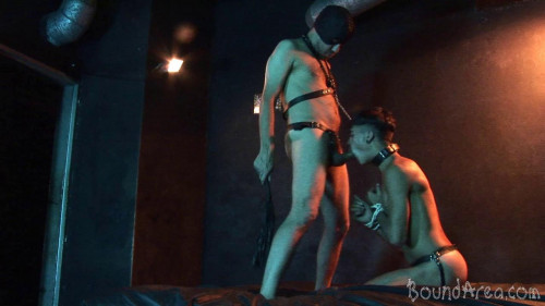 Gay BDSM masturbate alongside