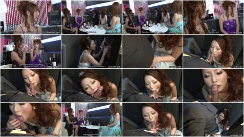 Uncensored asian Karin, Saki, Shiho and Yuki  in the night club scene1