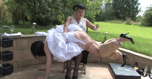 Femdom and Strapon Correcting My Sissy Maid