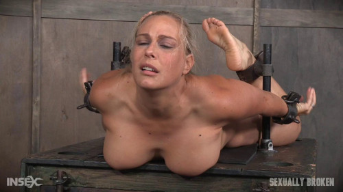 bdsm Angel Allwood - Blond MILF is hogtied and face fucked into oblivian