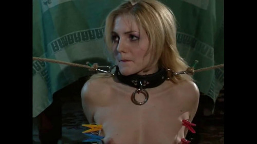 bdsm Super bondage and torture for beautiful young blonde