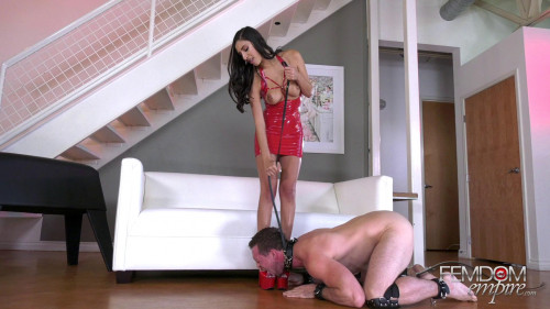 Femdom and Strapon Devoted Doormat