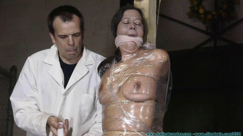 BDSM Cruel Gags, Strait Jacket, Twine, Plastic Wrap, and Tape for Summer