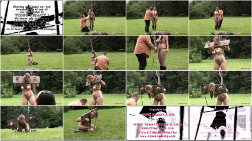 BDSM Outdoor Bondage for Bettine and Bustyteen part 2