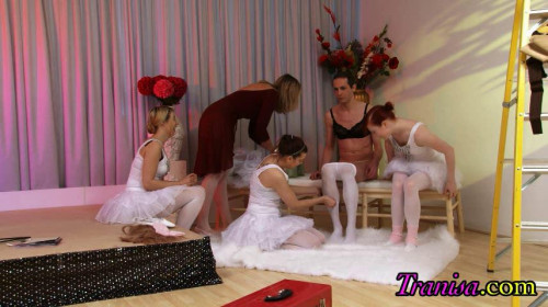 Femdom and Strapon Make you a girl ballerina